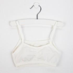 Топ-майка для девочки, цвет кремовый, рост 140-146 см