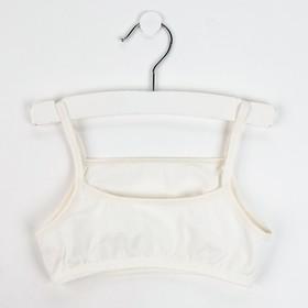 Топ-майка для девочки, цвет кремовый, рост 158 см