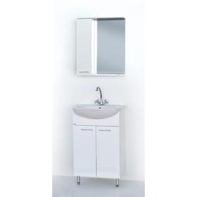 Набор мебели Волна 50: тумба с раковиной + шкаф-зеркало Ош