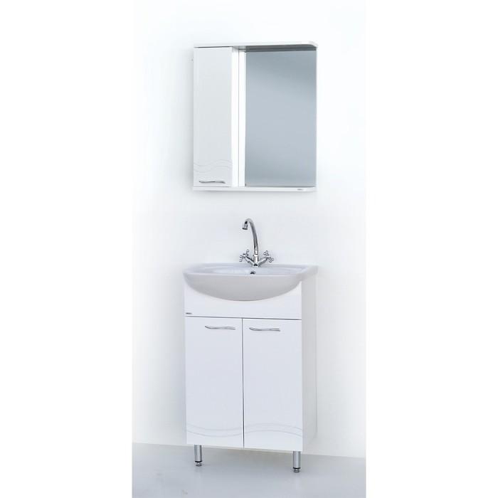 Набор мебели Волна 50 тумба с раковиной  шкаф-зеркало