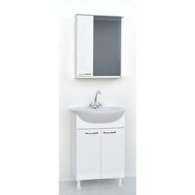 Набор мебели Гармония 55: тумба с раковиной + шкаф-зеркало Ош
