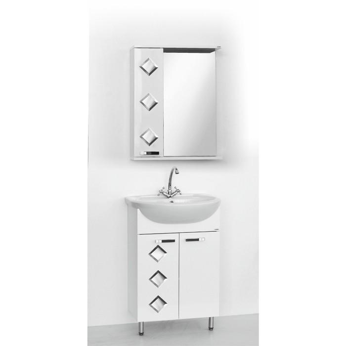 Набор мебели Квадро 55 тумба с раковиной  шкаф-зеркало