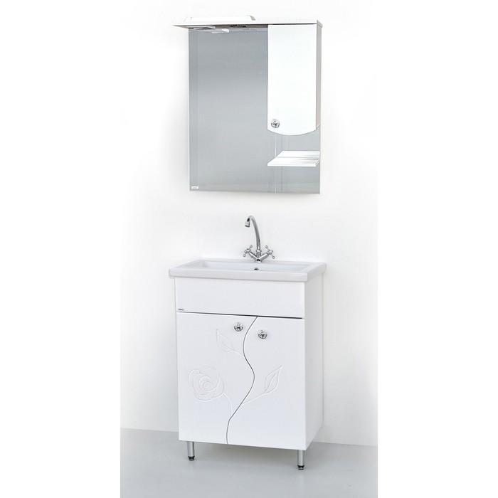 Набор мебели Люка 60 тумба с раковиной  шкаф-зеркало
