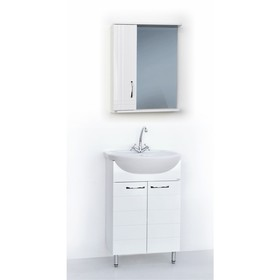 Набор мебели Престиж 55: тумба с раковиной + шкаф-зеркало Ош