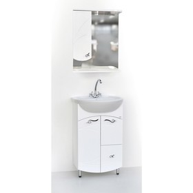 Набор мебели Фантазия 55: тумба с раковиной + шкаф-зеркало Ош