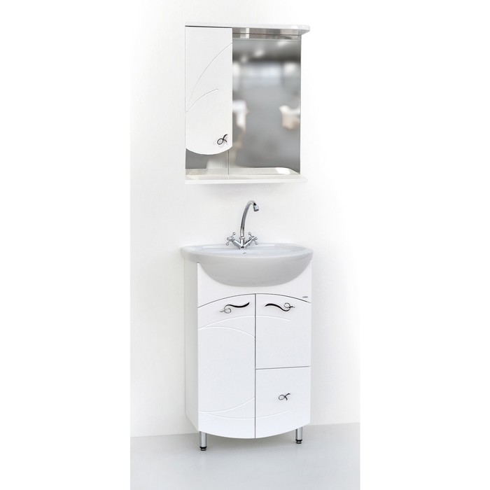 Набор мебели Фантазия 55 тумба с раковиной  шкаф-зеркало