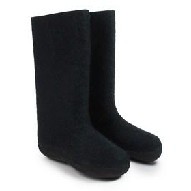 Валенки мужские с резиновой подошвой, цвет чёрный, размер 45 Ош