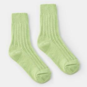 Носки женские тёплые Collorista, размер 23, цвет светло-зелёный