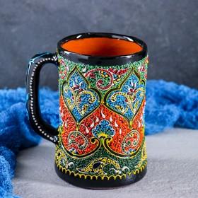 Бокал керамический Самарканд, цвет в ассортименте