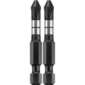 "Биты KRAFTOOL Impact Pro 26191-2-50-S2, Е 1/4"", 50 мм, PH2, 2 шт., Philips"