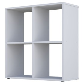 Стеллаж Polini Home Smart, 4 секции, цвет белый Ош