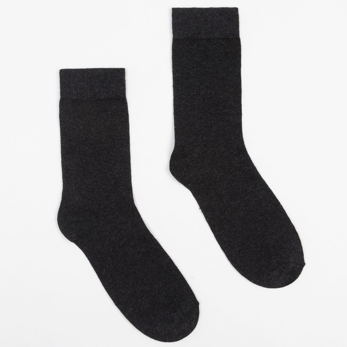 Носки мужские, цвет тёмно-серый, размер 25