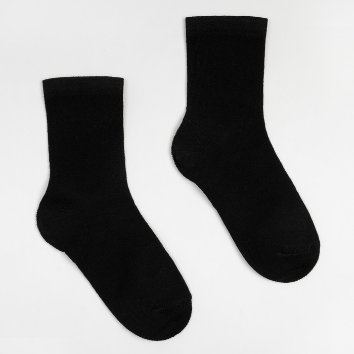 Носки детские, цвет чёрный, размер 24
