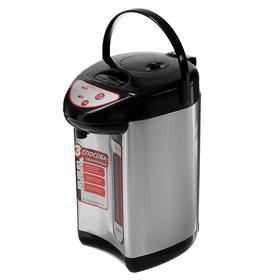 Термопот LuazON LET-5001, 750 Вт, 5.8 л, 3 способа подачи воды, серый Ош