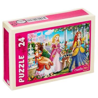 Пазл «Волшебный мир принцесс», 24 элемента, МИКС - Фото 1