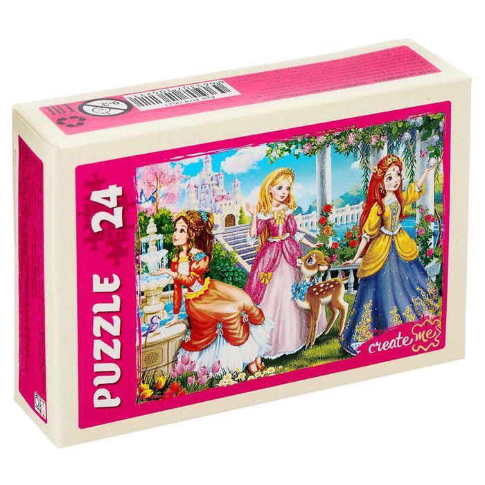 Пазл «Волшебный мир принцесс», 24 элемента, МИКС