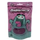 """Игрушки в наборе """"Слаймонстр"""", фиолетовый + фигурки насекомых, 200 г"""