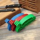 Точилка для ножей «Верная помощь», 15×6×3 см, с ручкой, цвет МИКС - Фото 4