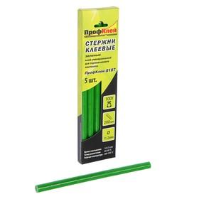 """Стержни клеевые """"ПрофКлей"""" 8187, универсальные, зеленые, 11х200 мм, 5 шт."""