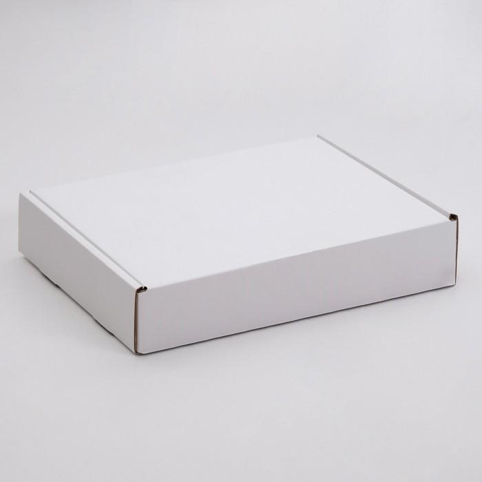 Упаковка для пирога, белая, 33,5 х 24 х 6 см