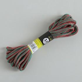 Шнур-верёвка вязаный ПП, d=4 мм, 10 м, цвет МИКС Ош