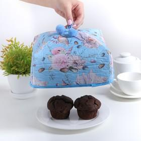 Термокрышка для еды 21×21×12 см 'Морские цветы' Ош
