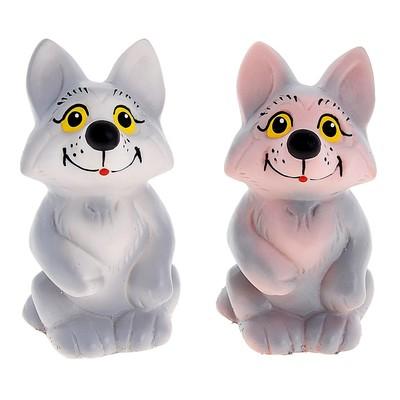 Резиновая игрушка «Волчонок», МИКС - Фото 1