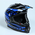 Шлем HIZER B6196-2, размер M, чёрный, синий