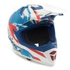 Шлем HIZER, NENKI 316-2, размер M, белый, синий, красный
