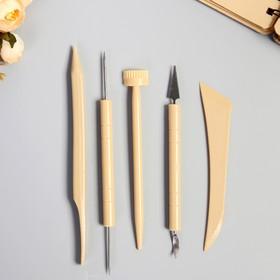 Инструменты для моделирования и придания формы набор 5 шт пластик 21,5х7,5х0,8 см Ош