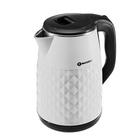 Чайник электрический EuroStek EEK-TP01P, 1500 Вт, 2.5 л, черно-белый