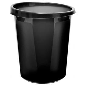 Корзина для бумаг 9 литров, цельная, чёрная Ош