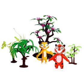 Мягкий игровой набор Лео и Тиг, 2 героя, 7,5 см, с аксессуарами Ош