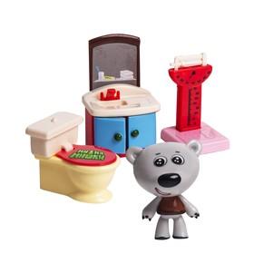 Игровой набор МИ-МИ-МИШКИ «Тучка», ванная комната, 3 детали интерьера