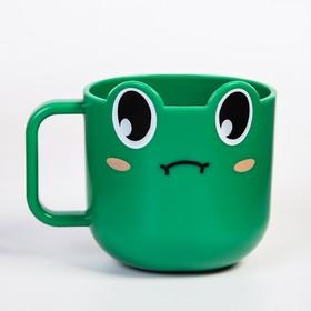 "Кружка детская 260 мл., ""Лягушка"", цвет зеленый"