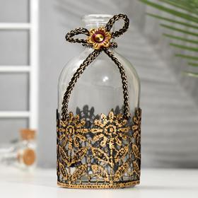 Бутылка для аромамасел/декора стекло 'Цветы кружево' прозрачный 200 мл 13,5х6х6 см Ош