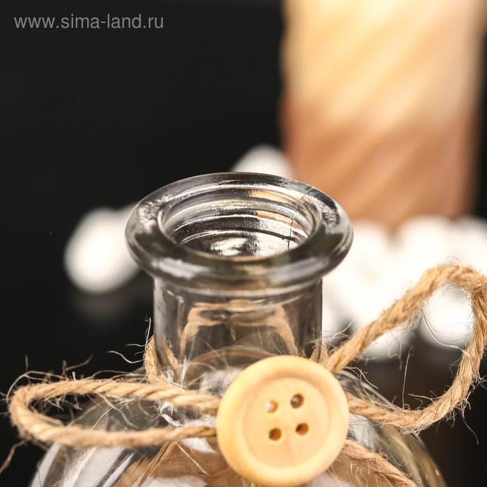 """Бутылка для аромамасел/декора стекло """"Эйфелева башня"""" прозрачный 200 мл 13,5х6х6 см"""