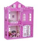 """Домик для кукол """"Дом Элизабет"""" с мебелью, бело-розовый 000290"""