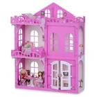 Домик для кукол «Дом Элизабет» с мебелью, цвет бело-розовый - Фото 3