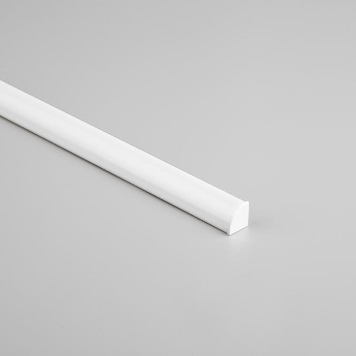 Алюминиевый профиль General, 16х16 мм, накладной, угловой, 2 м, круглый рассеиват., аксесс.