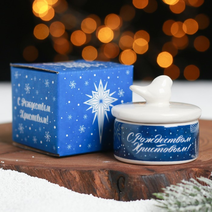 Шкатулка Сeребряное Рождество