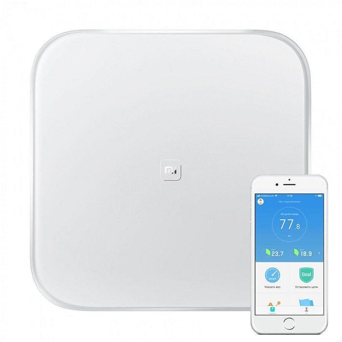Весы Xiaomi Mi Smart Scale 2, электронные, диагностические, до 150 кг, белые
