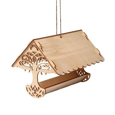 Кормушка для птиц «Узорное дерево», 23 × 21 × 15 см, Greengo - Фото 1