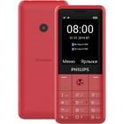"""Мобильный телефон Philips E169 Xenium, 2Sim, 2.4"""", 0.3Mpix, microSD, красный"""