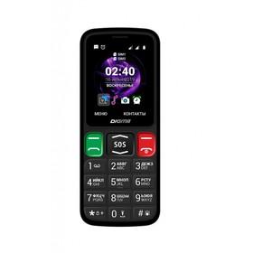 """Мобильный телефон Digma S240 Linx, 32Мб, 2Sim, 2.44"""", 0.08Mpix, microSD, черный"""