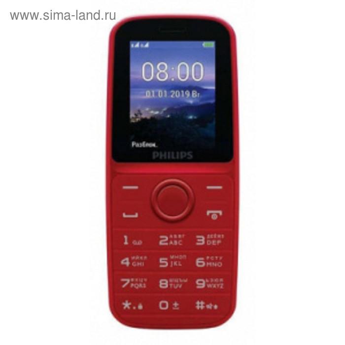 """Мобильный телефон Philips E109 Xenium, 2Sim, 1.77"""", microSD, красный"""