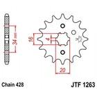 Звезда передняя, ведущая, JTF1263 для мотоцикла, стальная