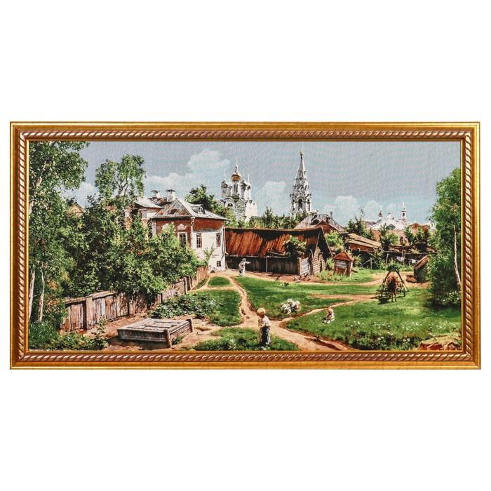 "E104-50х100 Картина из гобелена ""Утро в деревне"" (56х106)"