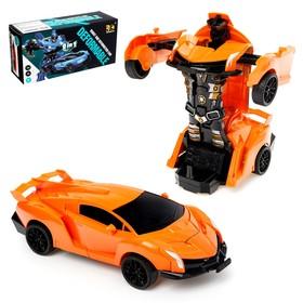 Робот инерционный «Автобот», трансформируется при столкновении, цвета МИКС Ош