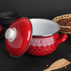 Кастрюля «Ажур» 2,1л, с крышкой, цвет красный - Фото 2